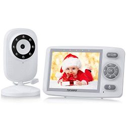 Baby Monitor with Digital Camera, TOGUARD 3.5 Inch 2.4GHz Wireless Video Baby Monitor 1000ft Ran ...