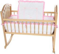 Baby Doll Bedding Unique Cradle Bedding Set, Pink