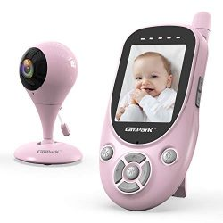 Campark Baby Monitor with Camera 2.4GHz Wireless 1000ft Range Transmission Night Vision 2-Way Ta ...