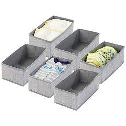 mDesign Soft Fabric Dresser Drawer and Closet Storage Organizer for Toddler/Kids Bedroom, Nurser ...