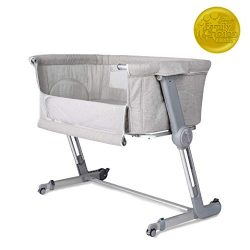 Unilove Hugme Plus, Bedside Sleeper & Baby Bassinet Includes Travel Bag, and Mattress, Shado ...