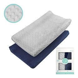 Changing Pad Cover – Babebay Ultra Soft Minky Dots Plush Changing Table Covers Breathable  ...