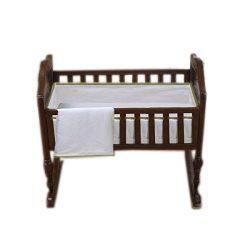Baby Doll Bedding Forever Mine Junior Cradle Bedding Set, Ecru