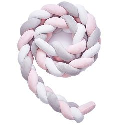 Soft Knot Pillow Decorative Baby Bedding Sheets Braided Crib Bumper Knot Pillow Cushion (White+G ...