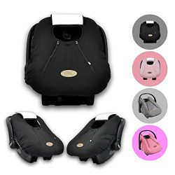 Cozy Cover Infant Car Seat Cover (Black) – The Industry Leading Infant Carrier Cover Trust ...
