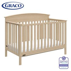 Graco Benton 4-in-1 Convertible Crib (Driftwood) – Easily Converts to Toddler Bed, Daybed  ...