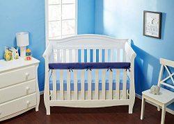 Everyday Kids Padded Baby Crib Rail Cover – Crib Rail Teething Guard – 1-PC Front Ra ...