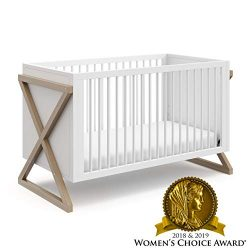 Storkcraft Equinox 3-in-1 Convertible Crib (Vintage Driftwood) – Easily Converts to Toddle ...