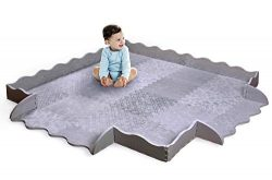 Designer Baby Play Mat with Fence – Thick Playmat Baby Mat with Non-Toxic Safety Soft Foam ...