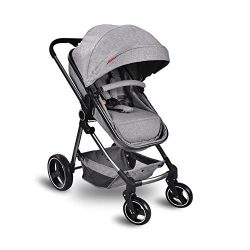 Cozylifeunion Baby Stroller, Convertible Bassinet Reclining Stroller, Foldable and Portable Pram ...