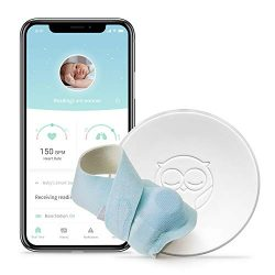 Owlet Smart Blue Sock Baby Monitor – Track Heart Rate & Oxygen Levels – With Sma ...