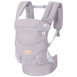 Infant Baby Holder Carrier Backpack Ergonomic with Head Support Padded Shoulder Straps Front and ...