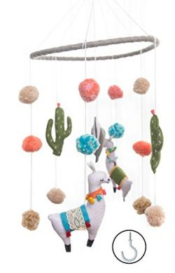 Baby Crib Mobile by Joey Co. | Felt Llama Mobile | Felt Baby Crib Mobile | Simple, Minimalist, F ...