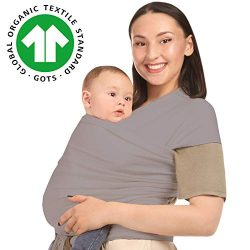Baby Wrap Carrier Sling Holder – Grey – Toddler, Newborn, Infant, Child – Fron ...