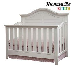 Thomasville Kids Southern Dunes Lifestyle 4-in-1 Convertible Crib, White, Easily Converts to Tod ...