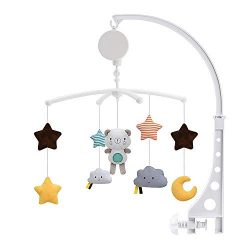 Doolland Baby Crib Mobile,Nursery Room Mobile Hanging Toys Hanging Rotating Rattles Bed Bell Hol ...