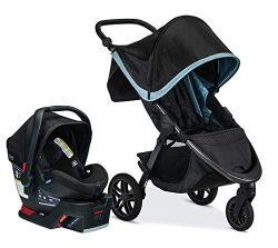Britax B-Free Travel System with B-Safe Ultra Infant Car Seat – Birth to 65 pounds, Frost