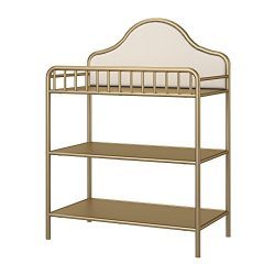 Little Seeds Piper Metal Changing Table, Gold