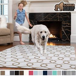 Gorilla Grip Original Faux-Chinchilla Area Rug, 3×5 Feet, Super Soft and Cozy High Pile Was ...