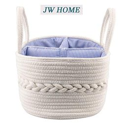 Baby Nursery Storage Bin Portable Custom Rope Diaper Caddy with Removeable Divider for Diapers
