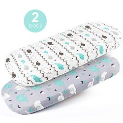 Stretch-Fitted-Bassinet-Sheet-Set-Brolex 2 Pack Craddle Sheets for Bassinet Pad/Mattress,Unisex  ...