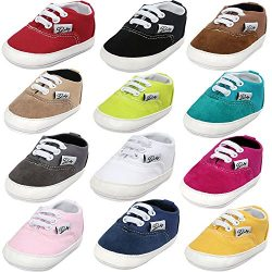 BENHERO Baby Boys Girls Canvas Toddler Sneaker Anti-Slip First Walkers Candy Shoes 0-24 Months 1 ...