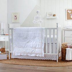 Carter's Lily 3 Piece Crib Bedding Set, White