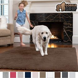 GORILLA GRIP Original Faux-Chinchilla Area Rug, 2×8 Feet, Super Soft and Cozy High Pile Was ...