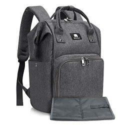 Diaper Bag, Meinkind Baby Diaper Bags Multi-Functional Large Diaper Bag Backpack Water-Proof Nap ...
