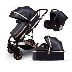 Anti-Shock Baby Stroller 3 in 1,Babyfond Convertible Bassinet to Toddler Stroller,Reinforced Fra ...