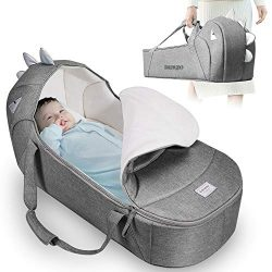 SUNVENO Baby Moses Basket Bassinet Bed Lounger Travel Portable Newborn Infant Co Sleeping Nest S ...