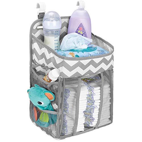 Hanging Diaper Caddy Organizer – Large Nursery Storage for Essential Newborn Baby Items &# ...