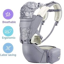 Baby Carrier Hip Seat, XIANRUI 360 Ergonomic Soft Baby Backpack Carrier Waistband Hip Support wi ...