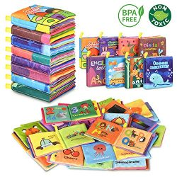 Baby Bath Books,Nontoxic Fabric Soft Baby Cloth Books,Early Education Toys,Waterproof Baby Books ...