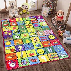 How Many Are There? teytoy Baby Rug for Crawling, Educational Kids Area Rugs Play Mat for Toddle ...