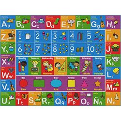 Bilingual Kids Rug – Educational and Fun Nursery Rug | Medium 6′ 6″ x 5′ ...