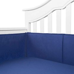 TILLYOU Cotton Collection Baby Safe Crib Bumper Pads for Standard Cribs Machine Washable Padded  ...