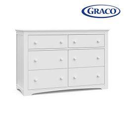Storkcraft 03706-101 Graco Hadley 6 Drawer (White) Dresser,