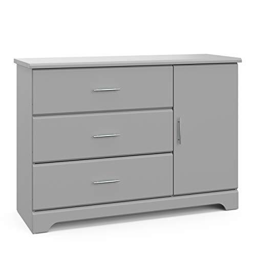 Stork Craft Storkcraft Brookside 3 Drawer Combo Dresser, Kids Bedroom Dresser with 3 Drawers &am ...