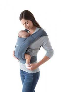 Ergobaby Embrace Baby Carrier, Infant Carrier for Newborns 7-25 Pounds, Oxford Blue