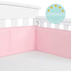 TILLYOU Baby Safe Crib Bumper Pads for Standard Cribs Machine Washable Padded Crib Liner Thick P ...