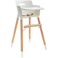 WeeSprout Wooden High Chair for Babies & Toddlers | 3-in-1 High Chair/Booster/Chair | Grows  ...