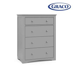 Graco Hadley 4 Drawer Dresser – Pebble Gray, Easy New Assembly Process, Universal Design,  ...