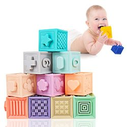 Mixi Baby Toys Blocks, Soft Blocks for Babies 6 Month Baby Toys Teething Toys Infant Toys Baby B ...