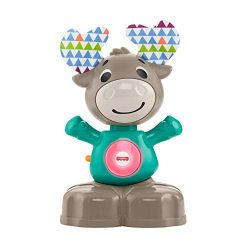 Fisher-Price Linkimals Musical Moose – Interactive Educational Toy with Music and Lights f ...
