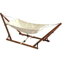Baby Hammock Cradle 100% Cotton Cribs Travel babyhammock Wooden Swing Foldable