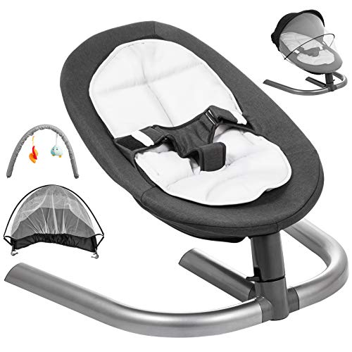 Happybuy Baby Swing Chair for Newborn Toddler Kids from Ages 0 to 5 Bouncer Infant Comfort Swing ...