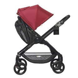 Ergobaby Stroller, Travel System Ready, 180 Reversible with One-Hand Fold, Red, Red – 180  ...