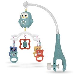 Bambiya Baby Crib Mobile w/ Music, Night Lights and Remote Control – Includes 300+ MIDI Me ...