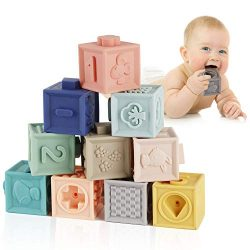 Mini Tudou Baby Blocks Soft Building Blocks Baby Toys Teethers Toy Educational Squeeze Play with ...